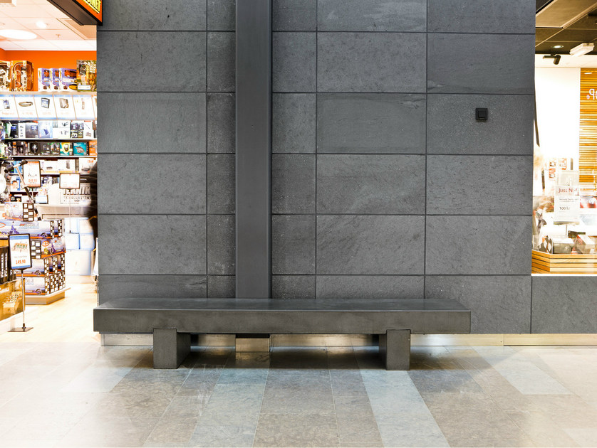 Cement bench seating PLINT by Nola Industrier