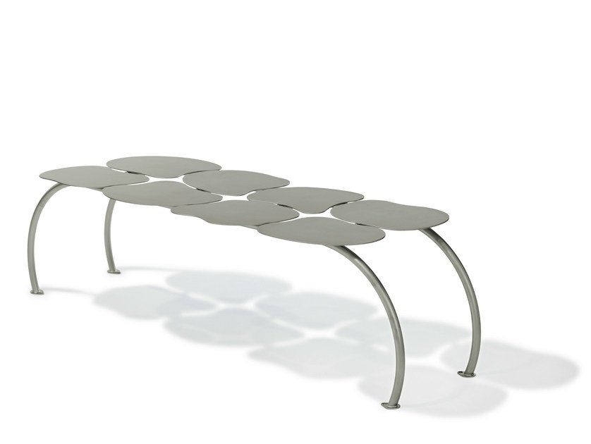 Backless steel Bench BEECEE by Nola Industrier