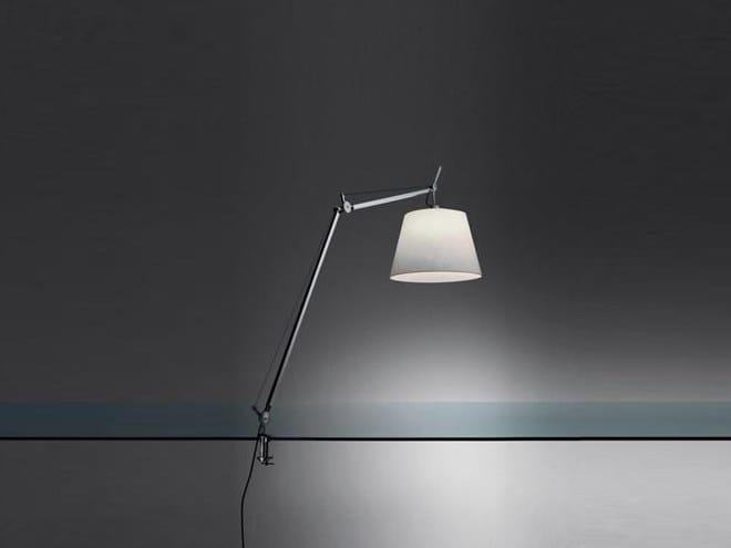 Satin clamp light TOLOMEO MEGA | Satin table lamp by Artemide