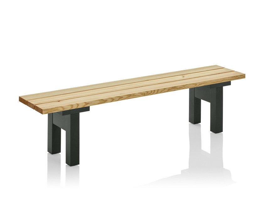 Backless pine Bench BAKGÅRD | Bench by Nola Industrier