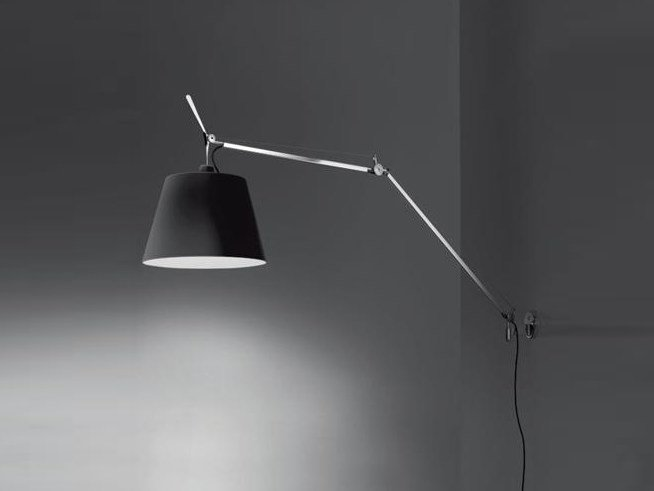 Aluminium wall lamp TOLOMEO MEGA | Fabric wall lamp by Artemide