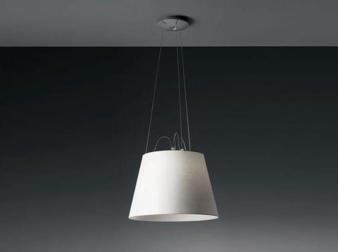 Direct light halogen satin pendant lamp TOLOMEO MEGA | Satin pendant lamp by Artemide