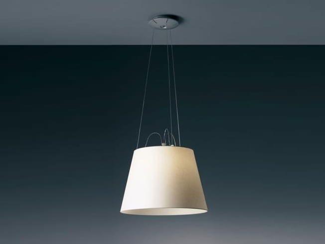 Direct light halogen parchment paper pendant lamp TOLOMEO MEGA SUSPENSION | Parchment paper pendant lamp by Artemide