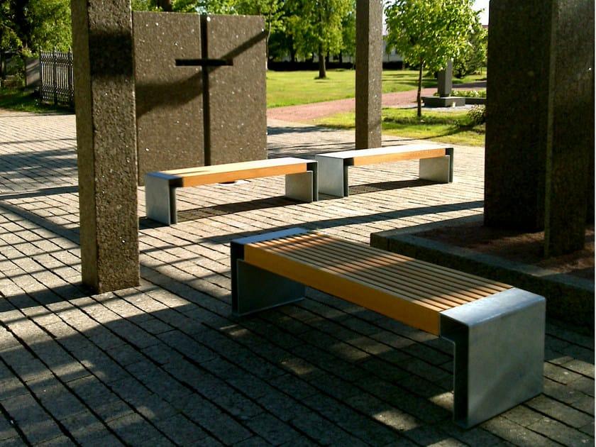 sitzbank aus beton ohne r ckenlehne paxa by nola industrier. Black Bedroom Furniture Sets. Home Design Ideas