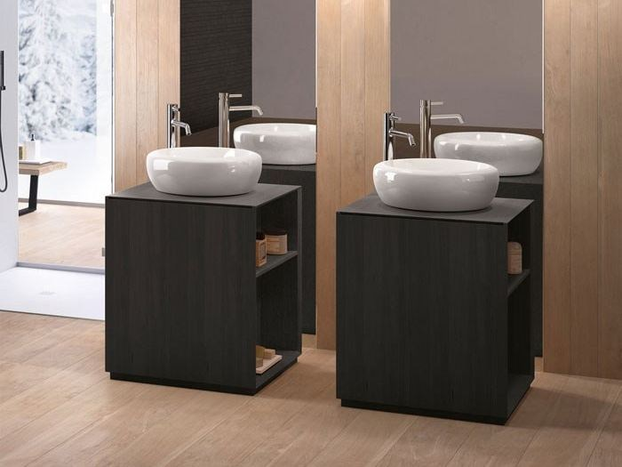 Countertop round ceramic washbasin FLUID | Round washbasin by Ceramica Cielo
