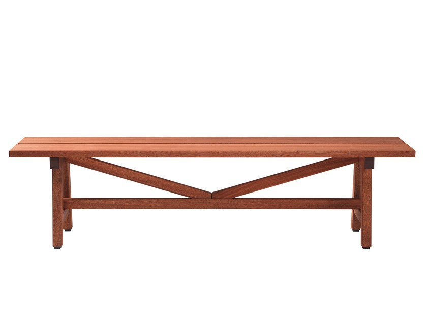 Backless wooden Bench HJORTHAGEN | Backless Bench by Nola Industrier