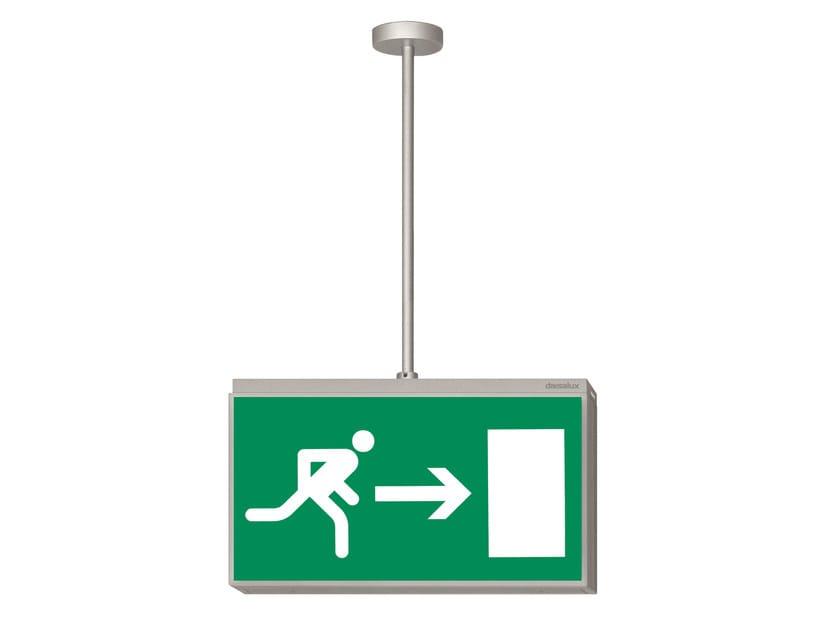 Emergency light / sign LISU | Illuminated sign by DAISALUX
