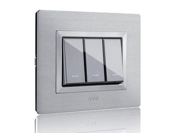 Aluminium wiring accessories ALLUMIA series with VERA plate by AVE