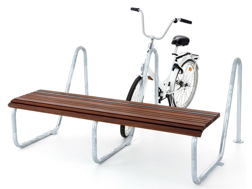 Backless Ipe wood Bench PARK FRIEND by Nola Industrier