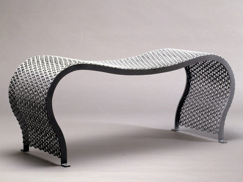 Backless steel Bench MOA by Nola Industrier