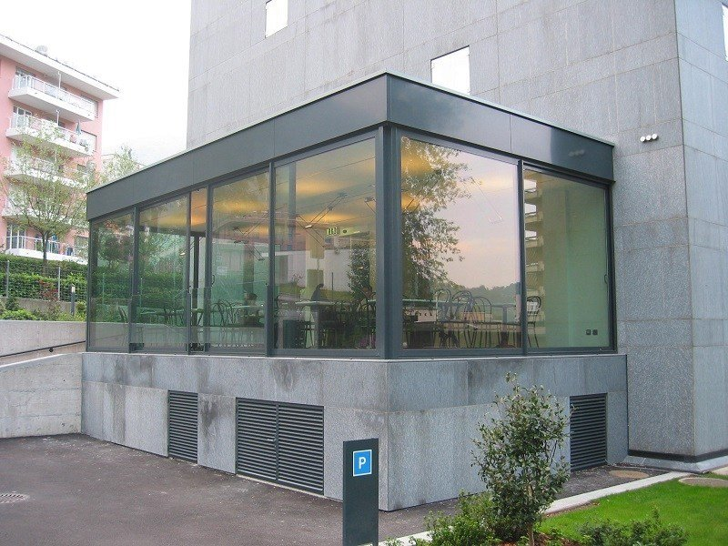 Thermal break sliding door GS 65 | Thermal break glass facade by FRUBAU