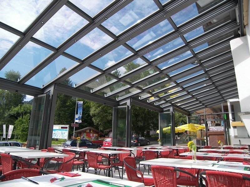 Aluminium conservatory canopy SUNROOF copertura mobile by FRUBAU