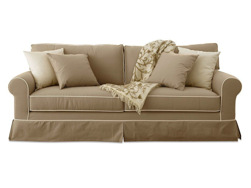 3 seater fabric sofa with removable cover RIVOLI by Cantori