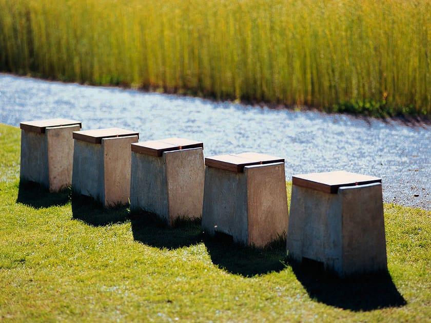 Concrete outdoor chair KONKRET by Nola Industrier