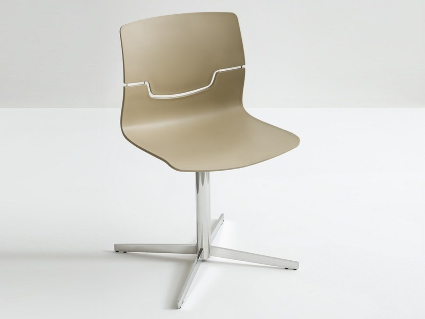 Swivel chair with 4-spoke base SLOT L by GABER