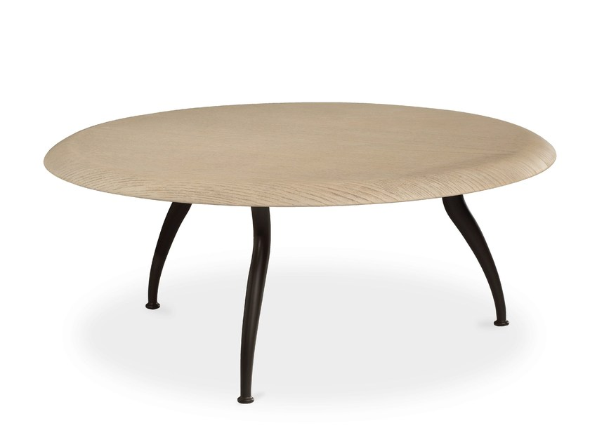 Low round coffee table for living room ARTURO | Low coffee table by Cantori