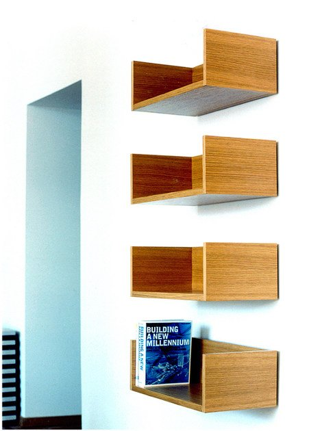 Wood veneer wall shelf ARK | Wall shelf by Nola Industrier