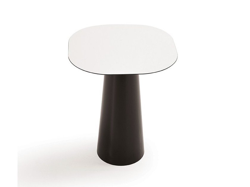Crystal and stainless steel table TOTEM SHAPED by Sovet italia