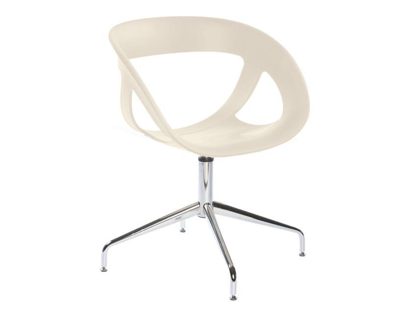 Technopolymer chair with 4-spoke base MOEMA 69 L by GABER