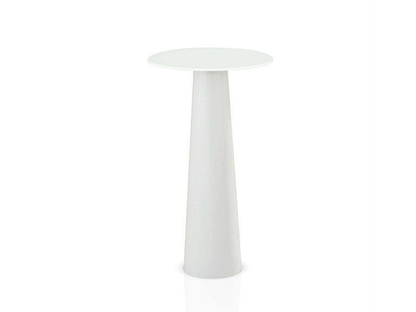 Glass high table TOTEM H. 110 by Sovet italia