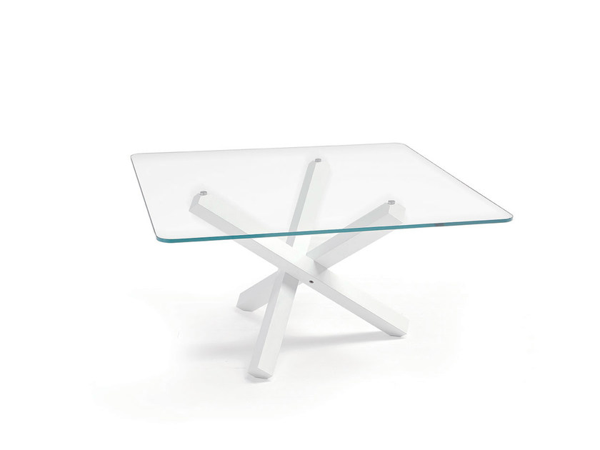 Square glass table AIKIDO SQUARE by Sovet italia