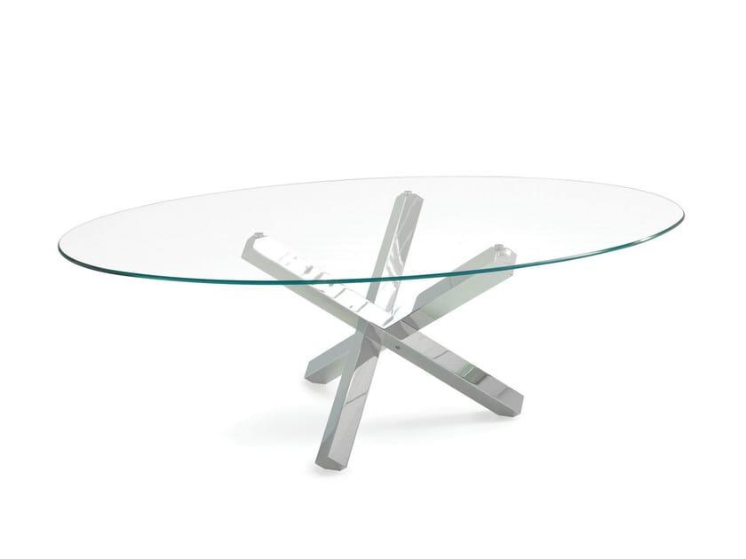 Tavolo ovale in vetro AIKIDO ELLIPTICAL - Sovet italia