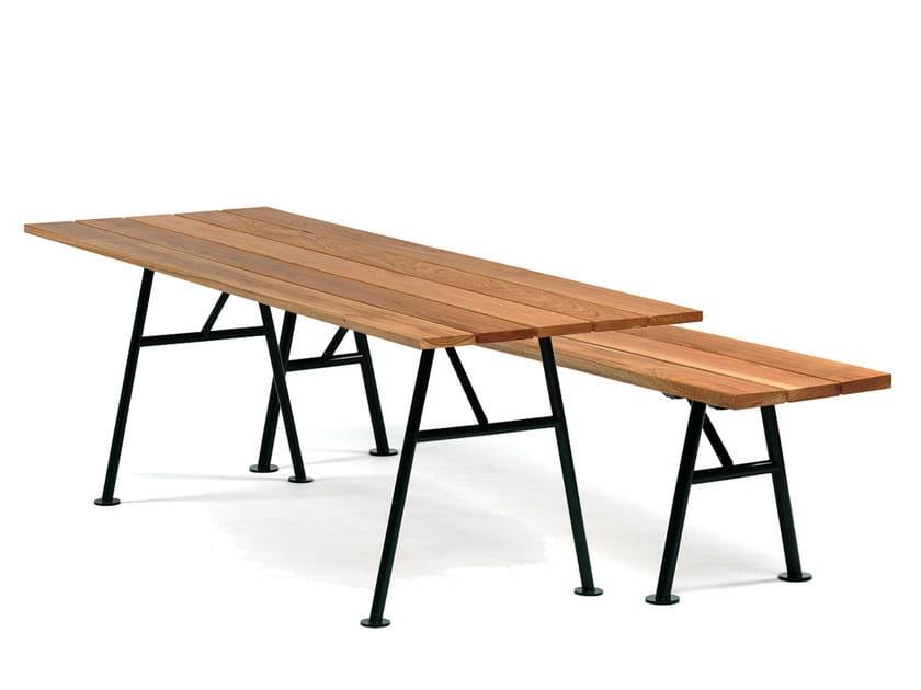 Tavolo Esterno Pieghevole Legno.Tavolo Da Giardino Pieghevole In Legno Alnon Tavolo Da Giardino