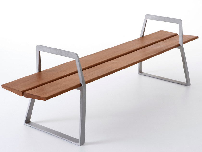 Backless die cast aluminium Bench A-BENCH by Nola Industrier