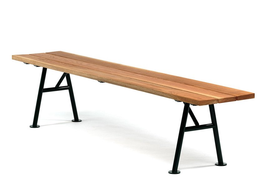 Backless wooden Bench ALNÖN | Bench by Nola Industrier
