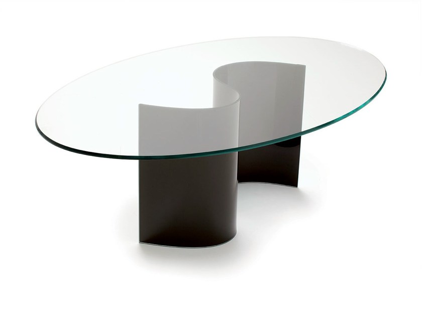 Oval crystal table LIVE by Sovet italia