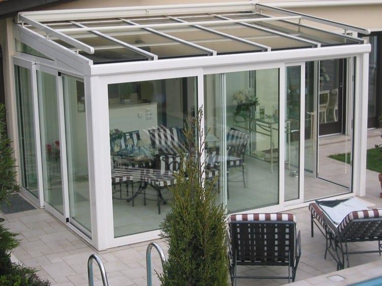 Aluminium conservatory canopy FR 2000 + FR 5000 + | Conservatory canopy by FRUBAU