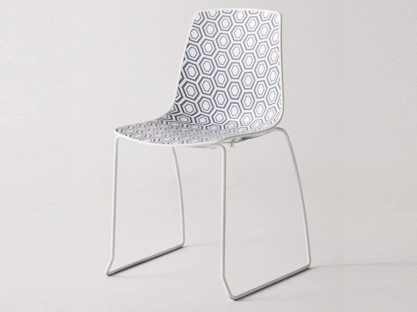 Sled base stackable technopolymer chair ALHAMBRA S by GABER