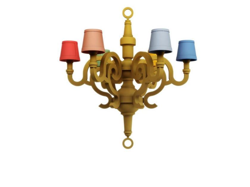 Cardboard chandelier PAPER CHANDELIER L PATCHWORK by moooi