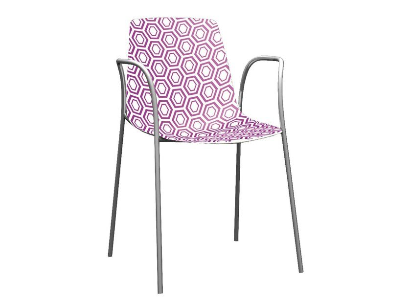 Stackable technopolymer chair with armrests ALHAMBRA TB by GABER