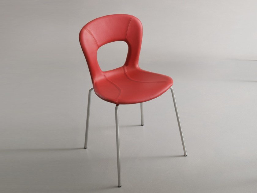 Stackable leather chair BLOG | Upholstered chair by GABER