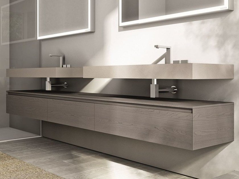 Double vanity unit CUBIK | Vanity unit by Idea