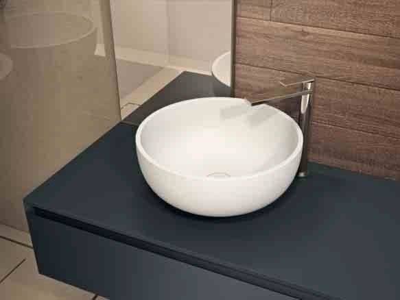 Countertop round Aquatek washbasin BACINELLA by Idea