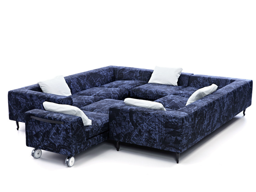 Sectional Dacron® sofa ZLIQ ISLAND by moooi