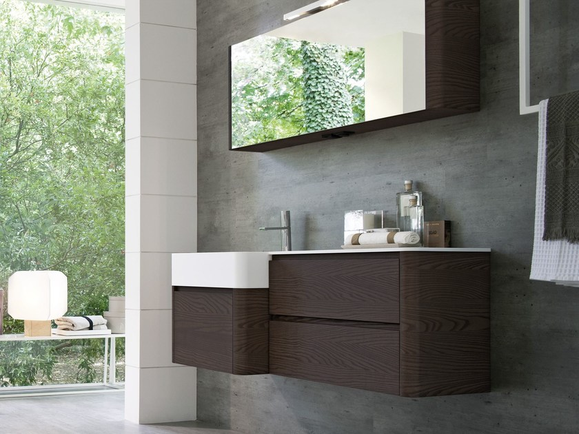 Single wall-mounted vanity unit COMP MSP02 by Idea