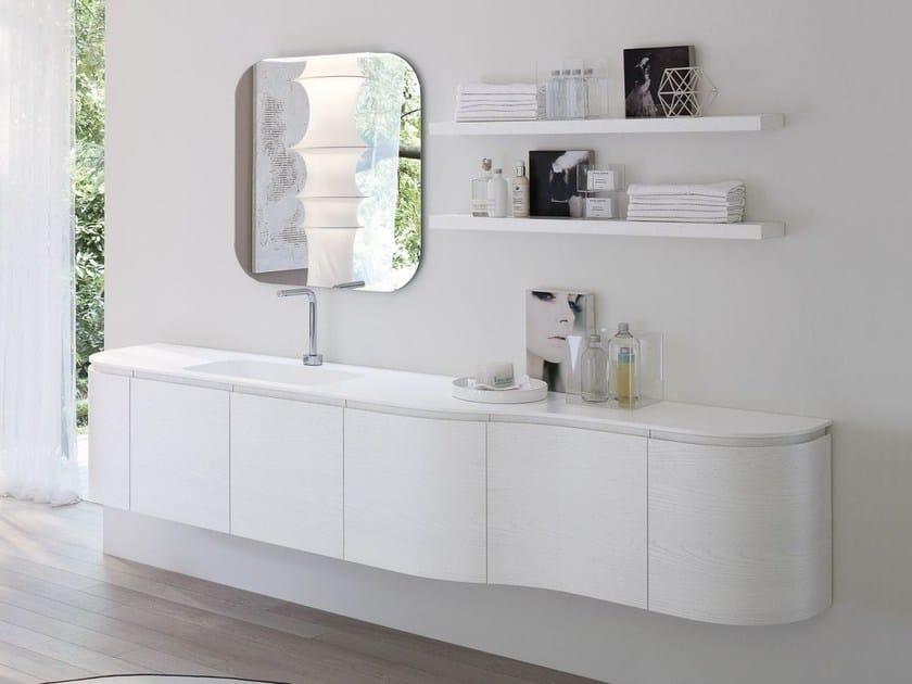 Vanity unit with mirror COMP MSP11 by Idea