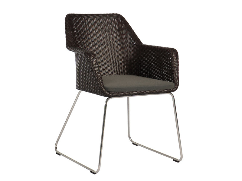 Sled base garden chair with armrests BOSTON | Garden chair by Sérénité Luxury Monaco