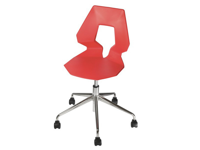 Swivel chair with 5-spoke base with casters PRODIGE 5R by GABER