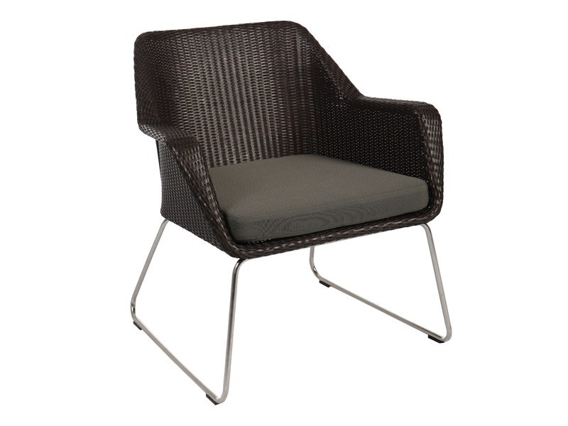 Sled base garden easy chair with armrests BOSTON | Garden easy chair by Sérénité Luxury Monaco