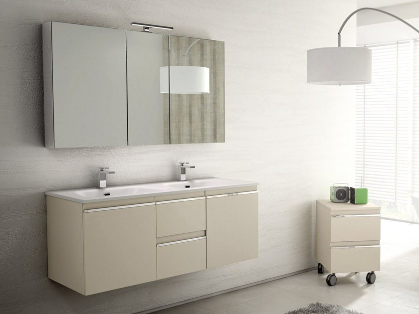 Wall-mounted vanity unit MISTRAL COMP 07 by Idea