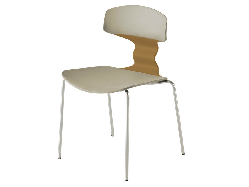 Stackable waiting room chair TOLO by GABER