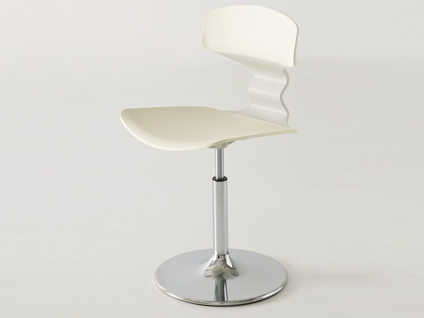 Technopolymer waiting room chair TOLO V by GABER