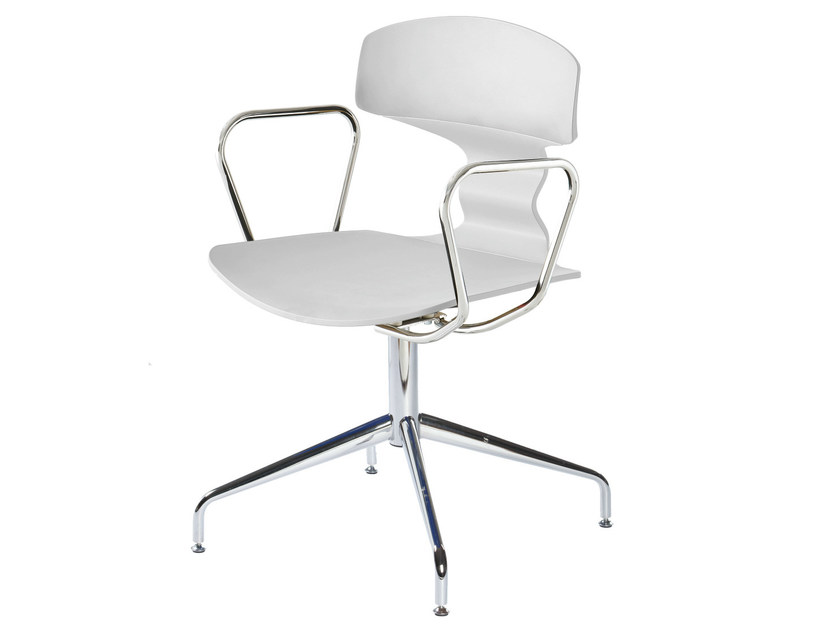 Waiting room chair with 4-Spoke base with Armrests TOLO LB by GABER