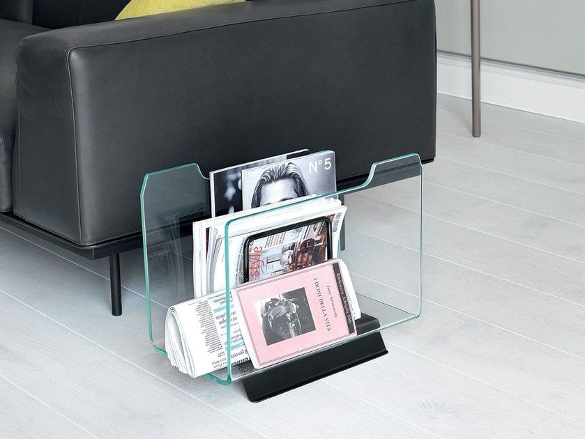 Glass magazine rack DOX by Sovet italia