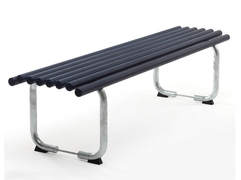 Backless steel Bench GOAL | Backless Bench by Nola Industrier