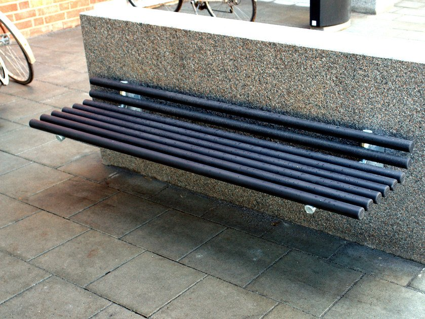 Wall-Mounted steel Bench GOAL | Wall-Mounted Bench by Nola Industrier